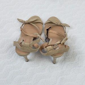Who What Wear Eden Heeled Khaki Ankle Strap Sandal